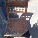 Renowacja tapicerki skórzanej - krzesło - zabytek