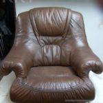 usuwanie odbarwień w fotelu skórzanym
